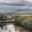 View of mountains in north wales — Stock Photo