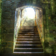 Castle steps leading to light — Stock Photo #12815403