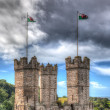 Castle turrets — Stock Photo