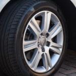 Car Wheel on Car — Stock Photo #13296998