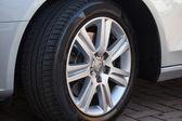 Car Wheel on Car — Stock Photo
