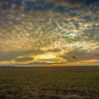 Stock Photo: Lincolnshire wolds clouds