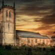 Stock Photo: Church at sunset