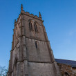 Stock Photo: Church tower and blue sky