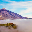 Mt Teide in the clouds - Stock Photo