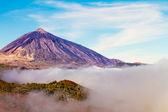Mt Teide in the clouds — Stock Photo