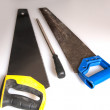 Habit 7 Sharpen the Saw new saw and old saw, — Stok fotoğraf