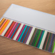 Case of colouring pencils — Stock Photo #22208141