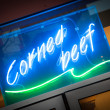 Corned beef deli sign — Stock Photo