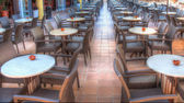 Resturant tables and chairs — Stock Photo