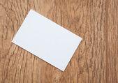 Business cards on dark desk — Stock Photo