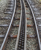 スノードンにラックとピニオンの鉄道 — ストック写真