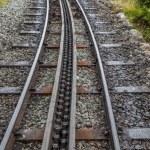 Rack and pinion railway on snowdon — Stock Photo #31519955