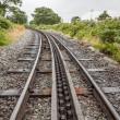 Rack and pinion railway on snowdon — Stock Photo #31680833