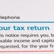 Tax return — Stock Photo