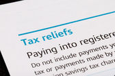 Tax reliefs — Stock Photo