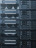Small business server rack — Stock Photo