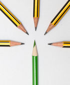 Pencils together — 图库照片