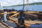 Capstan einem segelschiff — Stockfoto