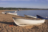 Fishing boats on the beach — Stock Photo