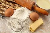 小麦粉と装飾 — ストック写真