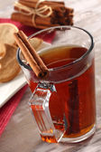 Water and cinnamon — Stock Photo