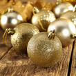 Stock Photo: Balls of christmas