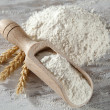 white flour — Stock Photo