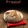 Bread and napkin — Foto Stock