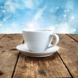 Table of winter coffee — Stockfoto