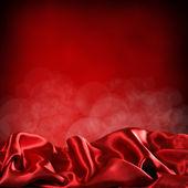 Kırmızı perdeleri arka planı — Stok fotoğraf