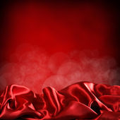 Background of red curtains — Stock Photo