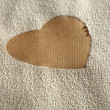Heart in flour - Foto de Stock  