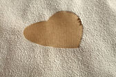 Heart in flour — Stock Photo