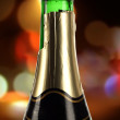 Champagne on a colorful background — ストック写真