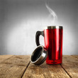Cup and smoke — Stockfoto