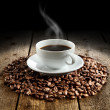 Cup of dark coffee — Stock Photo