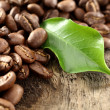 Coffee and green leaf — Stock Photo #18533993