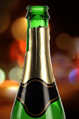 Champagne on a colorful background — Stock Photo