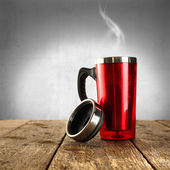 Cup and smoke — Stock Photo