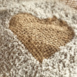 Stock Photo: Heart and brown paper with sugar
