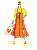 Elegant vector fashion woman — Stock vektor