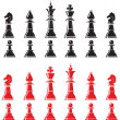 Chess pieces — Vector de stock #32863495