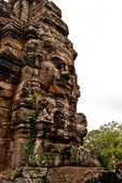 Face of Avalokiteshvara at one of the Bayon Temple (2), Angkor Wat, Siem Reap, Cambodia — Stock Photo