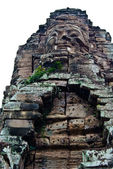 Face of Avalokiteshvara at one of the Bayon Temple, Angkor Thom, Siem Reap, Cambodia — Stock Photo