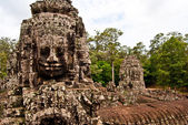 Faces of Avalokiteshvara, Bayon , Angkor Thom, Siem Reap, Cambodia — Stock Photo