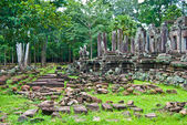 Pile of stones around Bayon, Angkor Thom, Siem Reap, Cambodia — Stock Photo