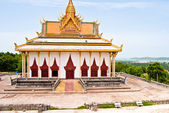 Ream Pagoda on the background of the Gulf of Thailand — Stock Photo