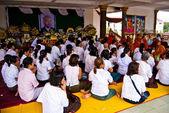 Bön för vila för själen i kambodjanska pensionerad kung norodom sihanouk — Stockfoto