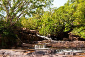 Khbail Chai waterfall in dry season — Stock Photo